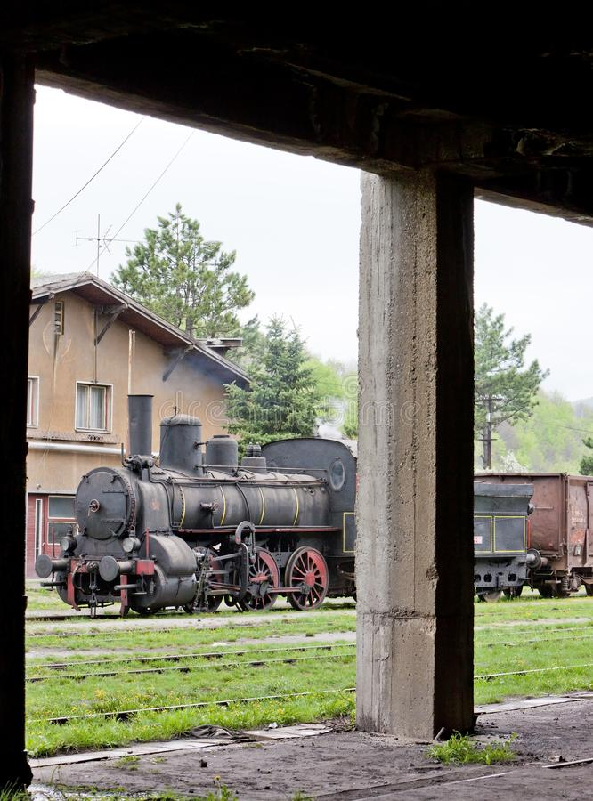 локомотив пара & x28; 126 014& x29; , Resavica, Сербия стоковое фото