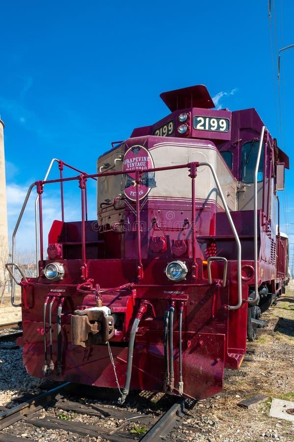 Локомотив, 2199, фотография на Grapevine Vintage Railroad, Техас стоковая фотография rf
