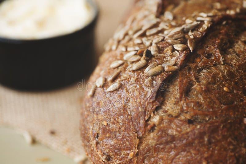 Ломоть хлеба и масло стоковое фото