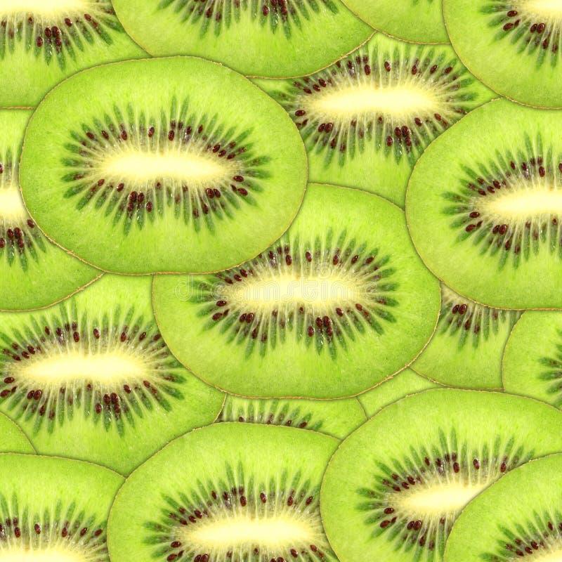 ломтики зеленой картины кивиа безшовные стоковое изображение rf