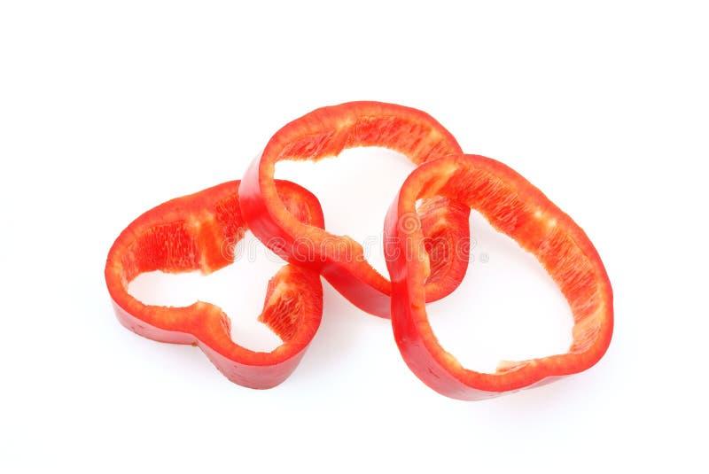ломтики красного цвета перца стоковые фото