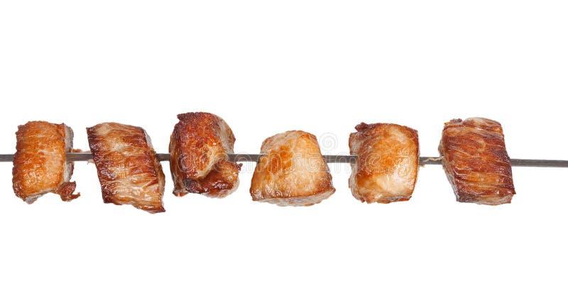 Ломтики мяса жаркого на протыкальнике стоковое фото rf