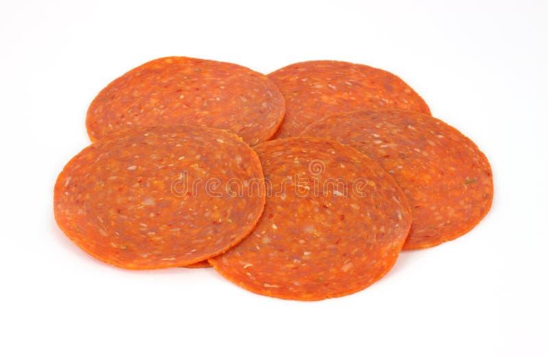 ломтики pepperoni стоковое фото
