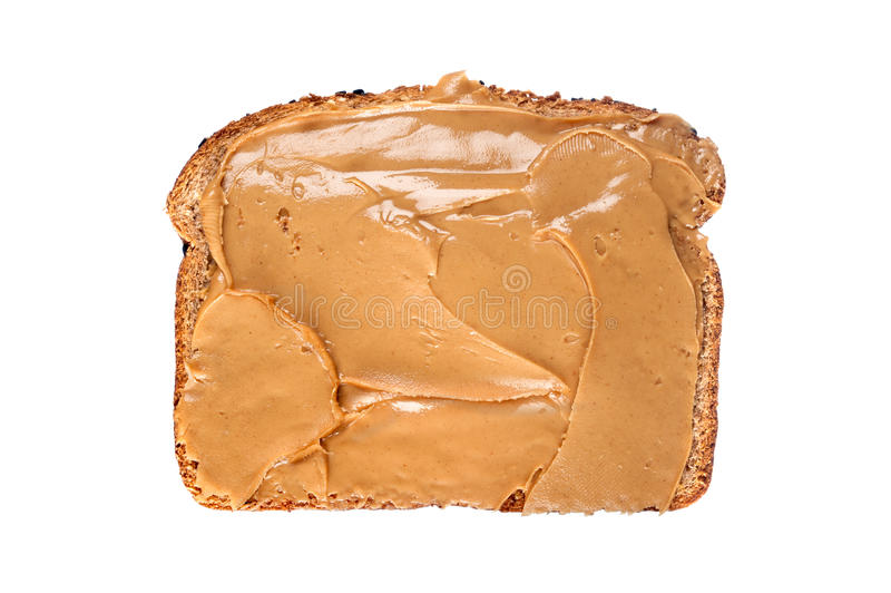 ломтик арахиса масла хлеба стоковое фото