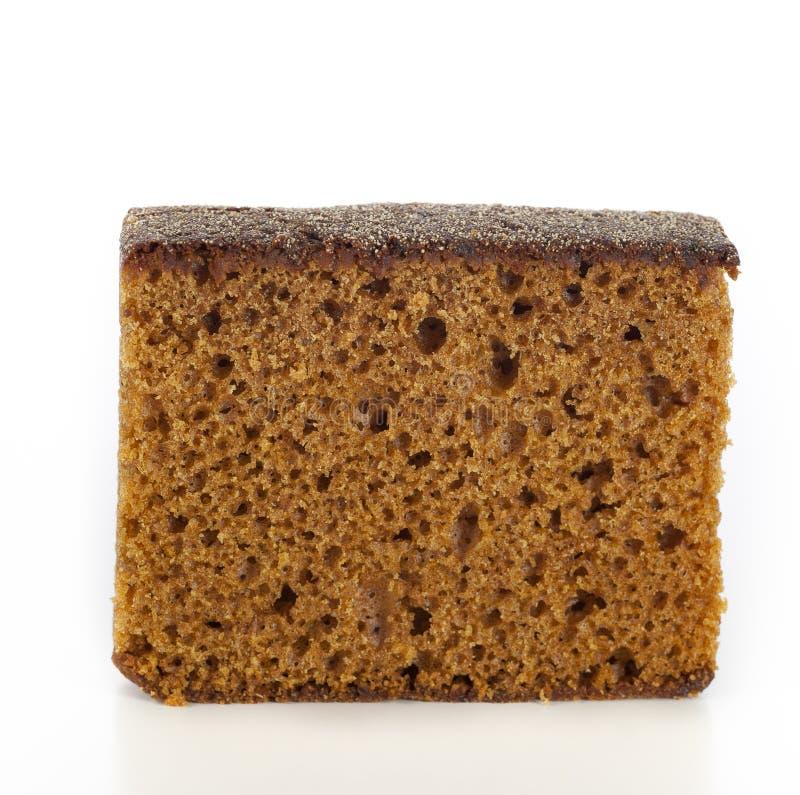 ломтик изолированный тортом стоковые фотографии rf