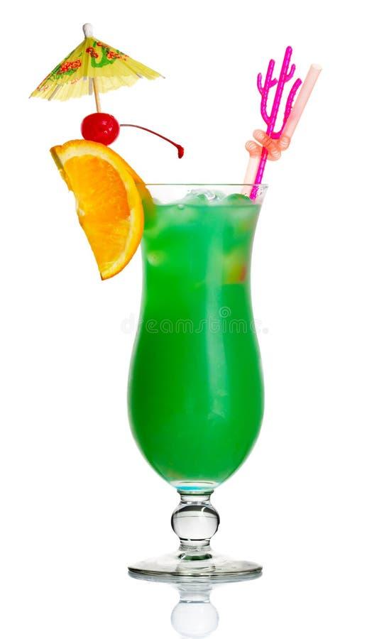 ломтик коктеила спирта изолированный зеленым цветом померанцовый стоковое изображение rf