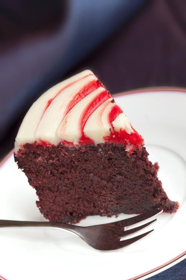 Красный торт бархата стоковое фото rf