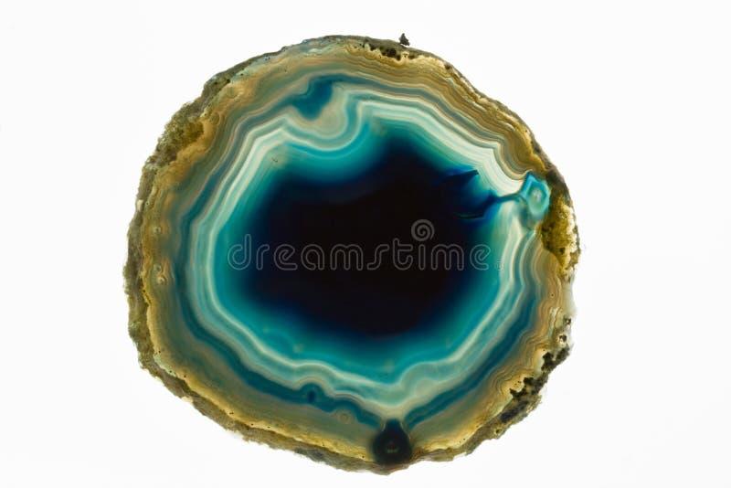 ломтик кристалла агата стоковое изображение