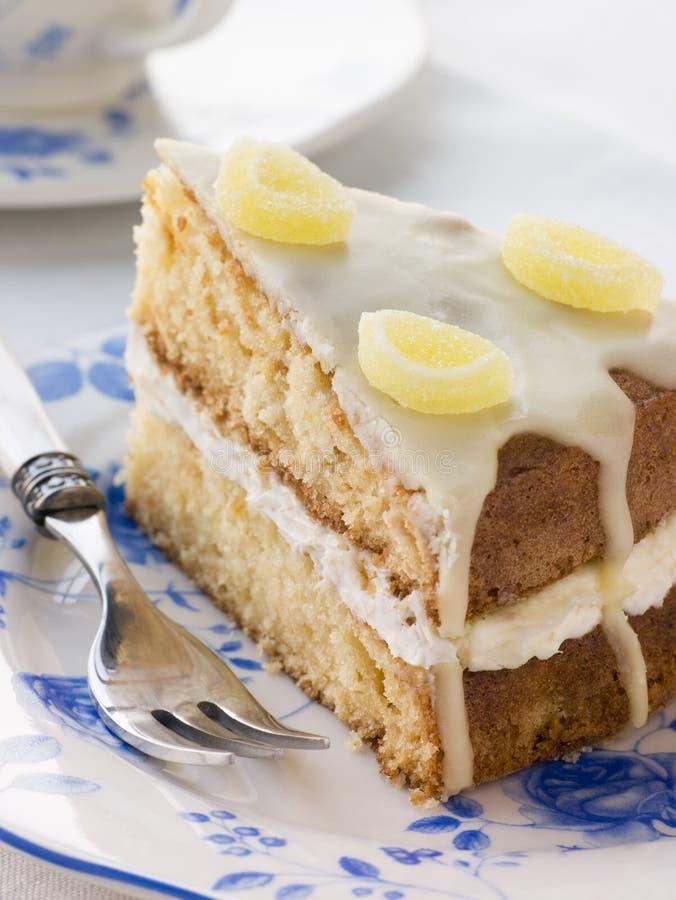 ломтик лимона мороси торта стоковые изображения