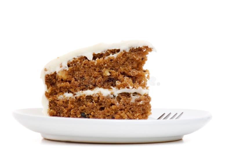 ломтик моркови торта стоковая фотография