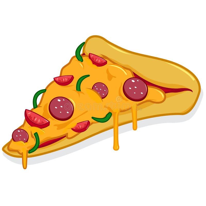 Ломтик пиццы иллюстрация штока