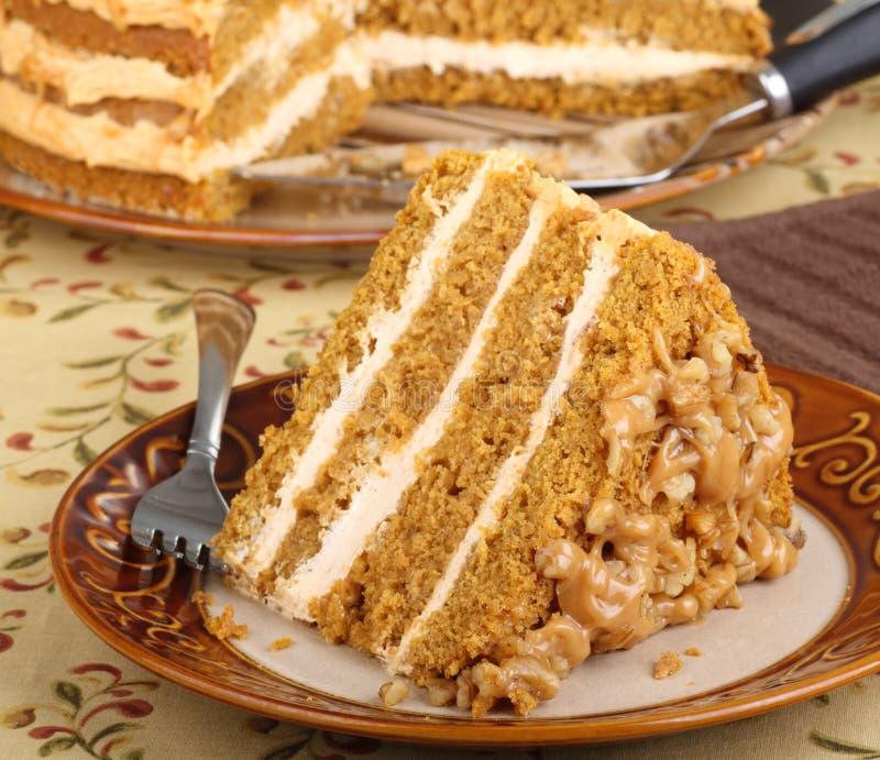 Ломтик торта слоя тыквы стоковое фото