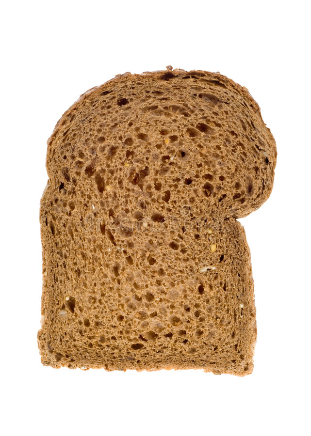 ломтик хлеба коричневый стоковая фотография rf