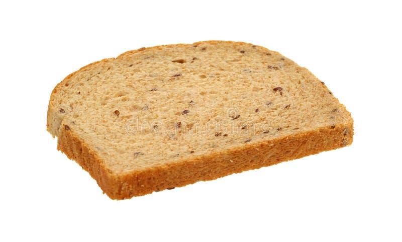 ломтик flaxseed хлеба одиночный стоковые фото