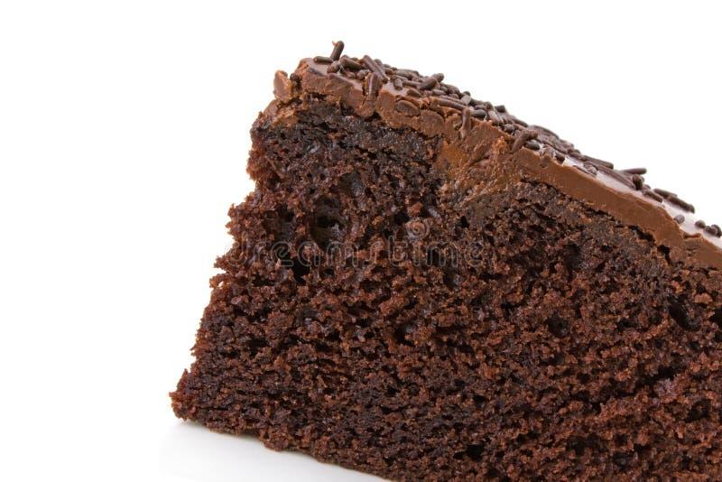 ломтик fudge шоколада торта стоковое фото rf