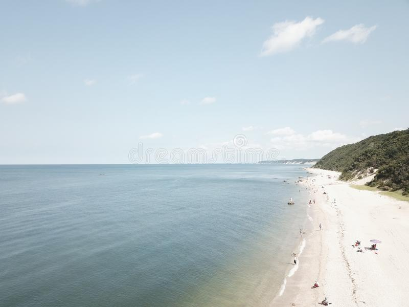Лонг-Айленд Нью-Йорк пляжа стоковая фотография rf