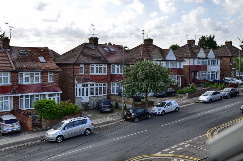 Лондон, Великобритания, июнь 2018 Типичные дома Лондона стоковое фото rf