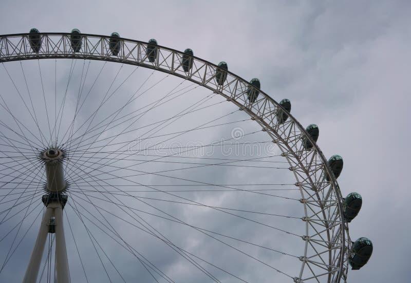 ЛОНДОН, ВЕЛИКОБРИТАНИЯ - 24-ОЕ ИЮНЯ 2019: Глаз Лондона, колесо тысячелетия стоковые изображения
