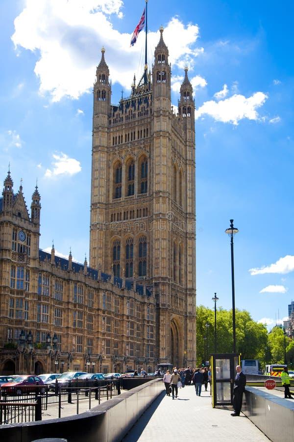 ЛОНДОН, Великобритания - 24-ое июня 2014 - парламент Великобритании стоковая фотография rf