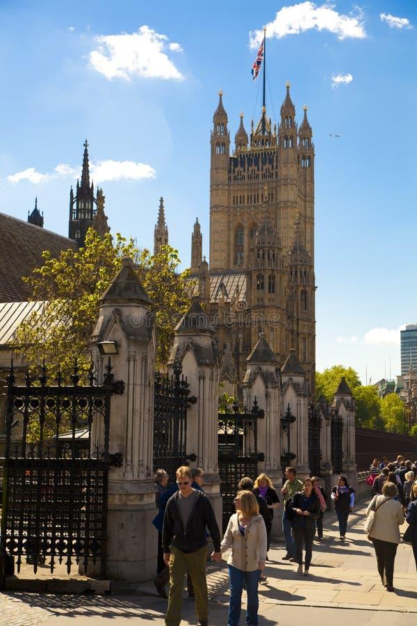 ЛОНДОН, Великобритания - 24-ое июня 2014 - парламент Великобритании стоковые изображения rf