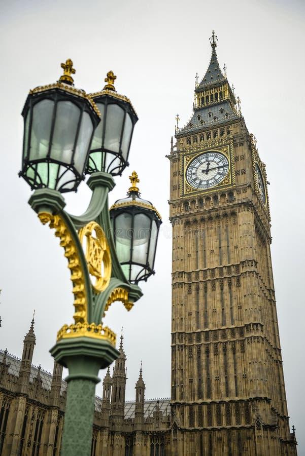 Лондон большой ben, Англия стоковые фотографии rf