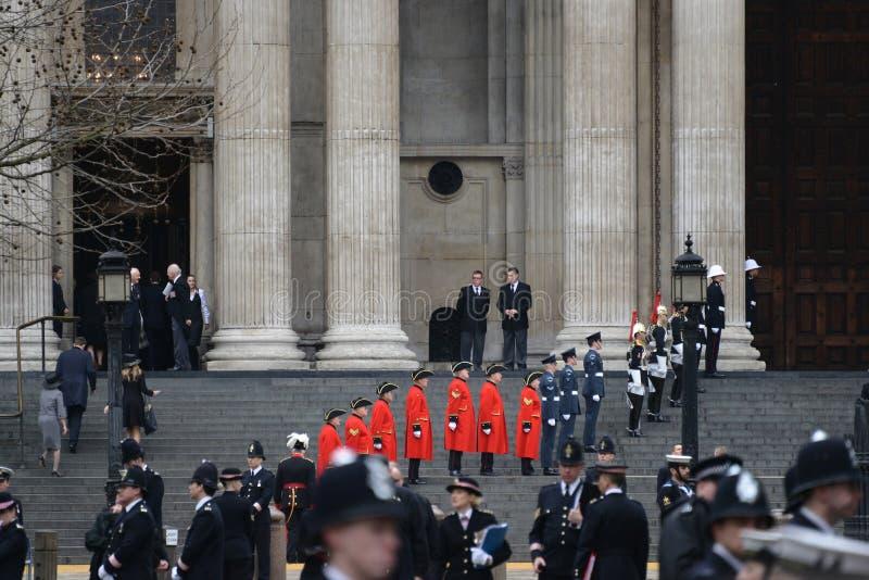 Похороны Baroness Тэтчера стоковые фото
