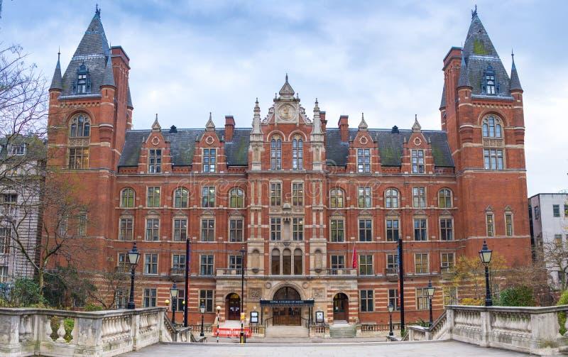 Лондон, Великобритания - 12-ое декабря 2016: Королевский коллеж музыки стоковое изображение