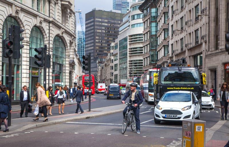 Лондон Город взгляда улицы Лондона стоковая фотография rf