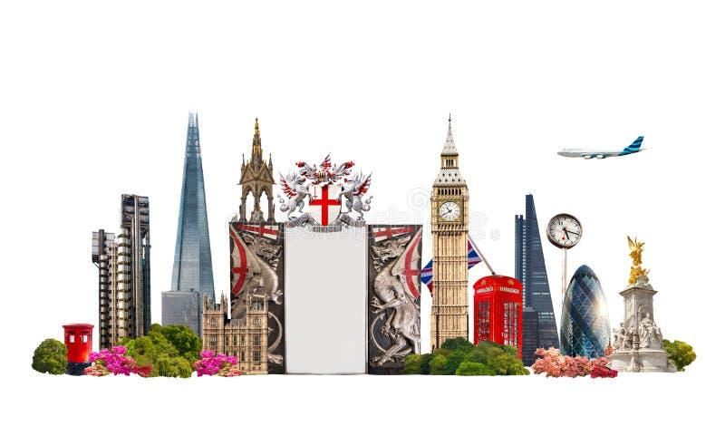 Лондон Известные здания предпосылки Лондона, перемещения и дела стоковые изображения