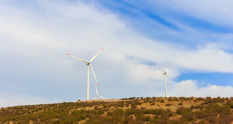 Лопасть ветра возобновляющей энергии стоковая фотография rf