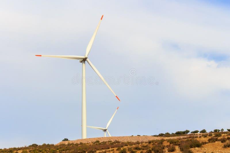Лопасть ветра возобновляющей энергии стоковые изображения rf