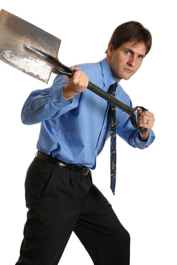 лопаткоулавливатель бизнесмена стоковое изображение rf