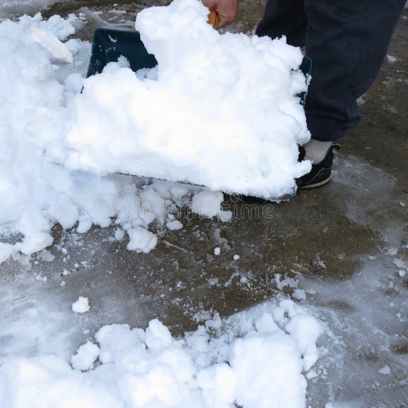 Лопаткоулавливатель снега Стоковые Изображения
