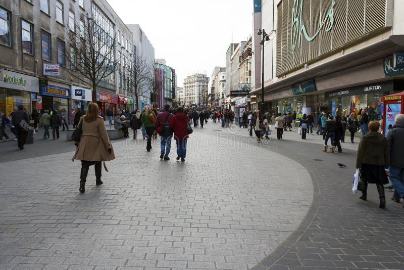 Лорд Улица Ходить по магазинам Ливерпуля стоковые фото
