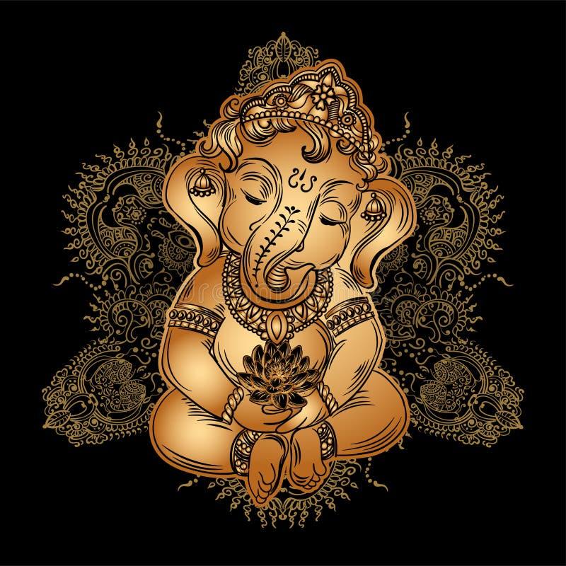 Лорд Ganesha младенца бесплатная иллюстрация