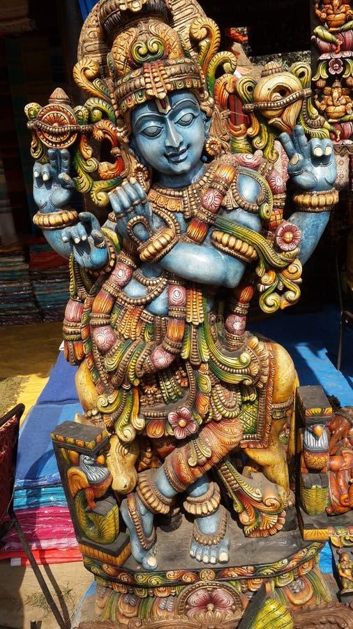 Лорд Krishna и искусство стоковые изображения