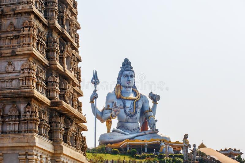 Лорд Shiva Статуя в Murudeshwar, Karnataka, Индии стоковая фотография rf