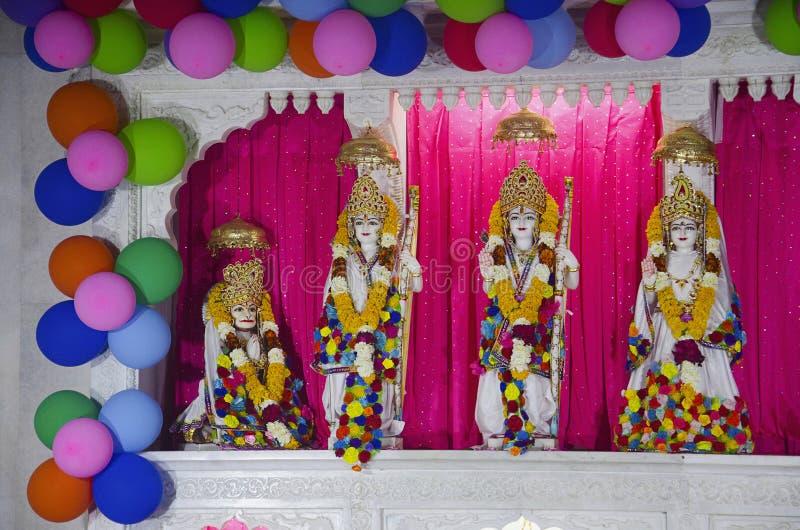 Лорд Shriram, Lakshman, Seeta и Hanuman, висок Salasar Balaji, Akola, махарастра стоковые фото