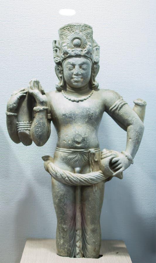 Лорд Vishnu Идол Ujjain Индия стоковая фотография