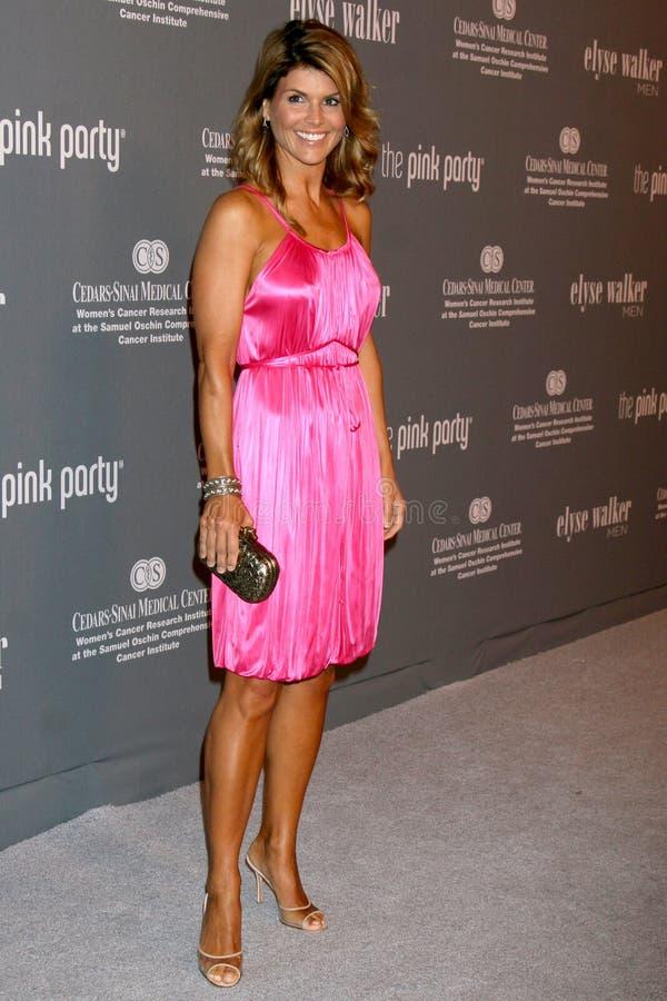 Лори Loughlin, розовое стоковое фото