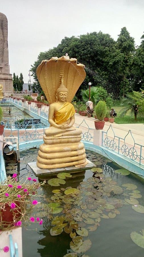 Лорд Будда на Sarnath Варанаси стоковые фотографии rf