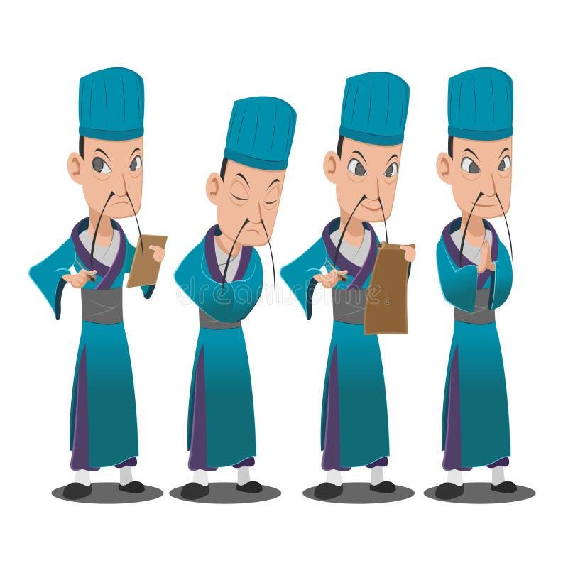 Лорд персонаж из мультфильма Китая набор иллюстрация штока
