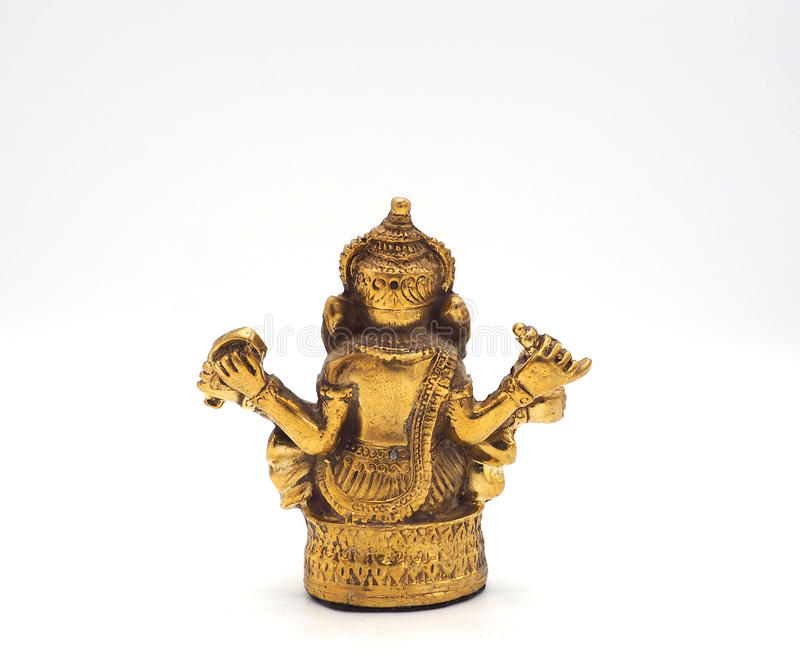 Лорд ganesha золота металлический сияющий успеха стоковое фото