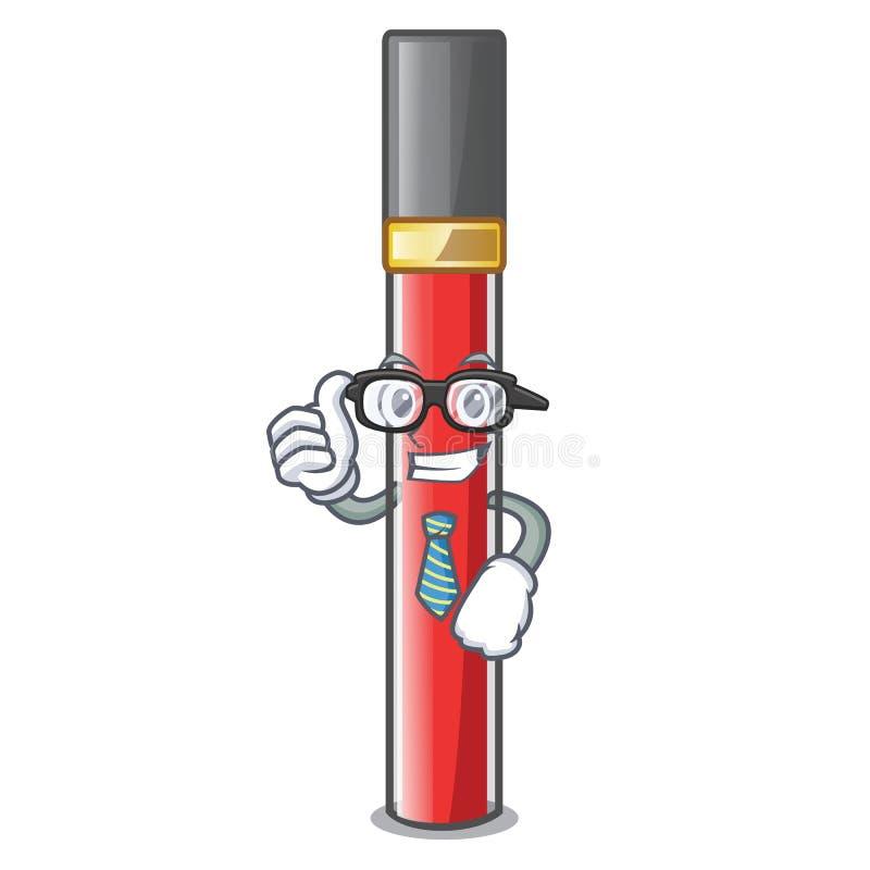 Лоск губы бизнесмена изолированный в талисмане иллюстрация штока