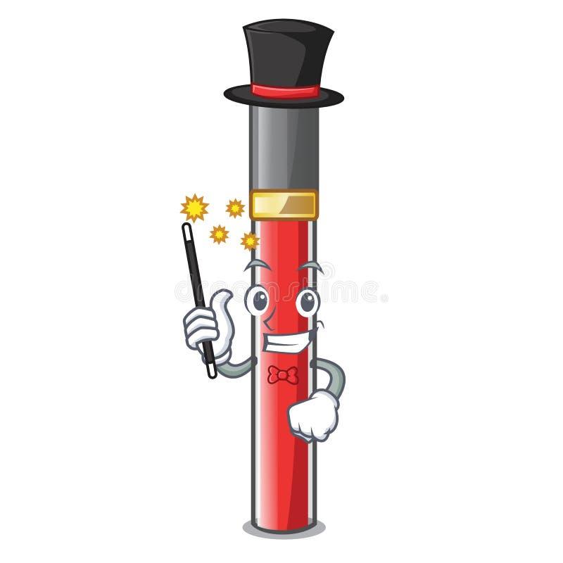 Лоск губы волшебника над таблицей макияжа мультфильма иллюстрация вектора