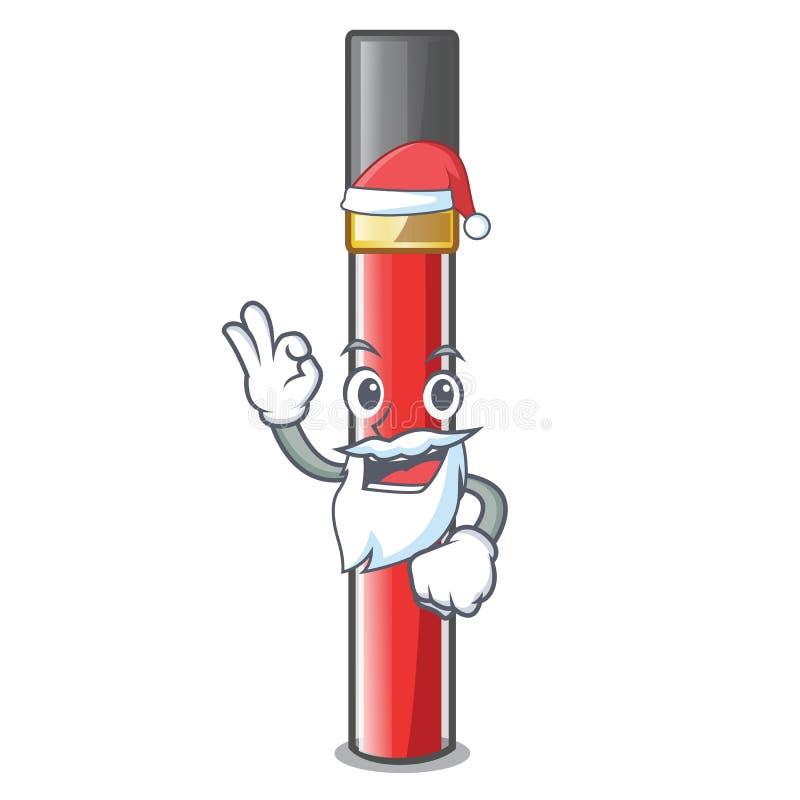 Лоск губы Санта над таблицей макияжа мультфильма бесплатная иллюстрация