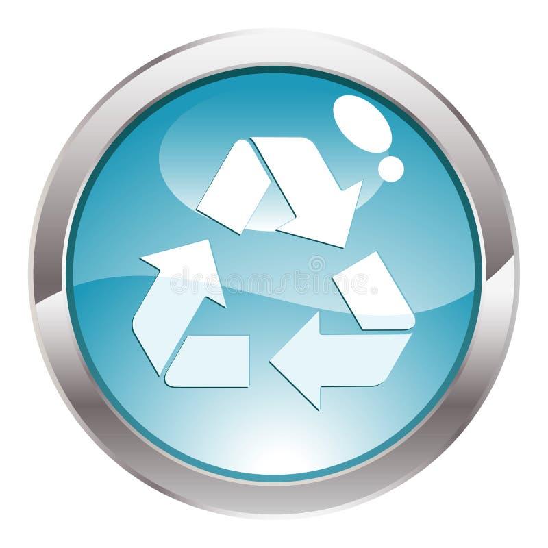 лоск кнопки рециркулируя символ бесплатная иллюстрация