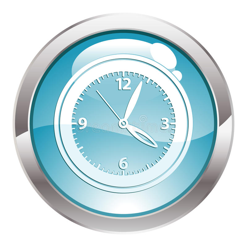 лоск часов кнопки иллюстрация штока