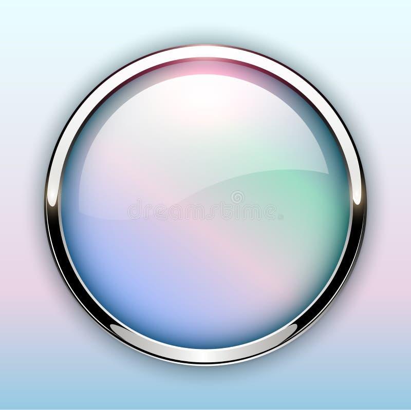 Лоснистая кнопка с металлическими элементами бесплатная иллюстрация