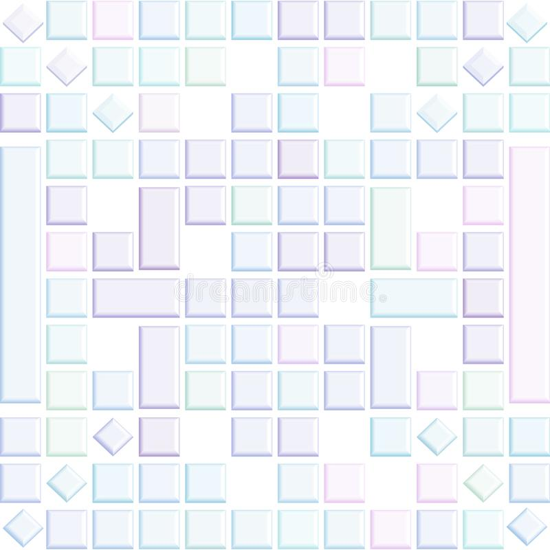 Лоснистая нежность покрасила квадраты 3D в абстрактной предпосылке иллюстрация вектора